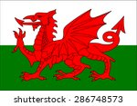wales flag | Shutterstock .eps vector #286748573