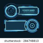 futuristic banner | Shutterstock .eps vector #286748813