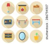 furniture vector icon set  flat ...