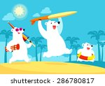 illustration of polar bear... | Shutterstock .eps vector #286780817
