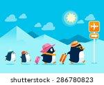 illustration of penguin family... | Shutterstock .eps vector #286780823