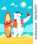 illustration of polar bear with ... | Shutterstock .eps vector #286781057