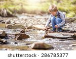 Child Playing In Summer...