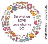 vector circular doodle... | Shutterstock .eps vector #286796687