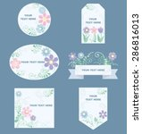 romantic labels with flower | Shutterstock .eps vector #286816013