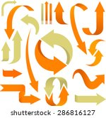 soft arrows collection in... | Shutterstock .eps vector #286816127