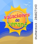 welcome summer in spanish text. ...   Shutterstock .eps vector #286827143