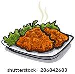schnitzel | Shutterstock .eps vector #286842683