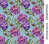 seamless pattern with flowers.... | Shutterstock . vector #286844963
