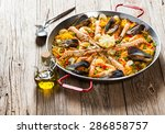 Spanish Dish Paella With...