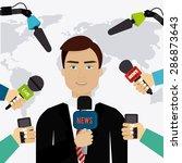 journalism design over white... | Shutterstock .eps vector #286873643