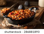 homemade barbecue baked beans... | Shutterstock . vector #286881893