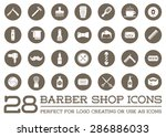 set of vector barber shop... | Shutterstock .eps vector #286886033