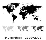 world map illustration isolated ... | Shutterstock . vector #286892033