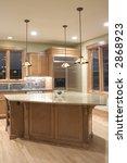 modern granite and wood kitchen | Shutterstock . vector #2868923