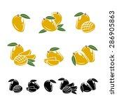 mango set. vector | Shutterstock .eps vector #286905863