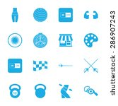 vector illustration of sport... | Shutterstock .eps vector #286907243