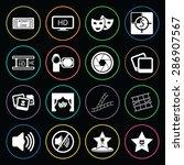 vector illustration of cinema... | Shutterstock .eps vector #286907567