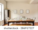 furnished dining room with... | Shutterstock . vector #286917227