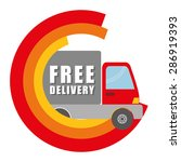 delivery design over white... | Shutterstock .eps vector #286919393