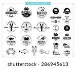 Seafood Logos  Labels  Sea...