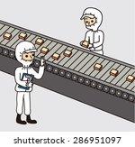 clean room factory work...   Shutterstock .eps vector #286951097
