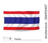 flag of thailand   vector... | Shutterstock .eps vector #286953407