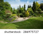 beautiful spring garden design  ... | Shutterstock . vector #286975727
