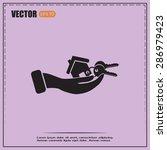 vector illustration key chain... | Shutterstock .eps vector #286979423