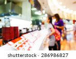 abstract blurred people in food ... | Shutterstock . vector #286986827