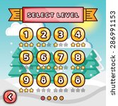 level selection screen. winter... | Shutterstock .eps vector #286991153