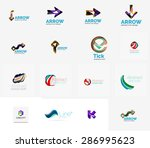 set of new universal company... | Shutterstock .eps vector #286995623