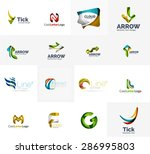 set of new universal company... | Shutterstock .eps vector #286995803