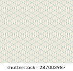 vector isometric seamless retro ... | Shutterstock .eps vector #287003987