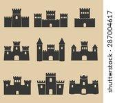 castle icons | Shutterstock .eps vector #287004617