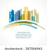 colorful city   real estate and