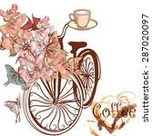 cute coffee illustration with...   Shutterstock .eps vector #287020097