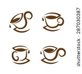 coffee cup icon set | Shutterstock .eps vector #287030387