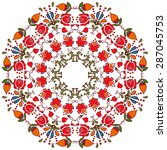 abstract folk circle ornament ... | Shutterstock .eps vector #287045753