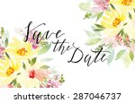 watercolor greeting card... | Shutterstock .eps vector #287046737