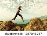 happiness girl in jump | Shutterstock . vector #287048267