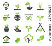 sprout icon set | Shutterstock .eps vector #287048297