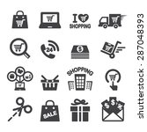 shopping icon | Shutterstock .eps vector #287048393