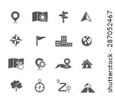 set of map navigation icon... | Shutterstock .eps vector #287052467