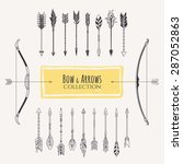 decorative bows and arrows... | Shutterstock .eps vector #287052863