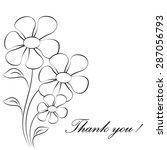 black and white flowers on... | Shutterstock .eps vector #287056793