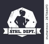athletic dept. grunge design...   Shutterstock .eps vector #287066693