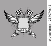 biker tattoo or emblem   hand... | Shutterstock .eps vector #287074643