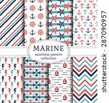 set of marine and nautical... | Shutterstock .eps vector #287090957