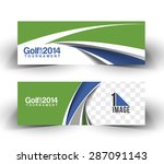 golf cup header   banner design | Shutterstock .eps vector #287091143